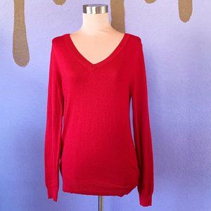 Mossimo Red Pullover Sweater